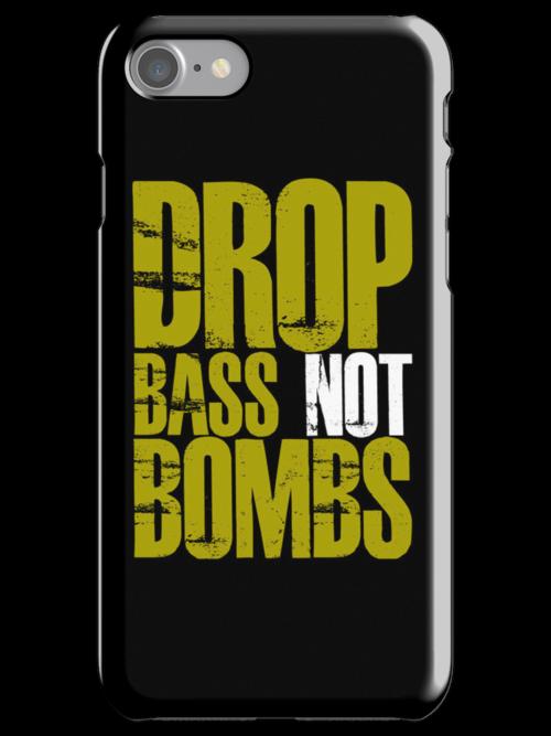 Drop Bass Not Bombs (Golden) by DropBass