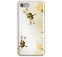 Gold Dragonfly iPhone Case/Skin
