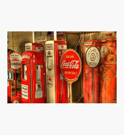 Vintage Gasoline Pumps Photographic Print