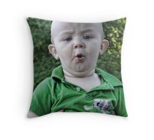 My new funny face Throw Pillow