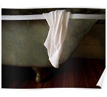 White Shirt Draped on Tub Poster