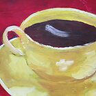 Yellow Coffee Cup by Patricia Cleasby
