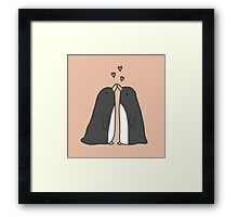 Lovely Love Penguins Framed Print