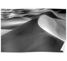 Death Valley Mesquite Dunes Monochrome Poster