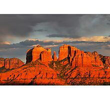 Sunset Over Cathedral Rock Photographic Print
