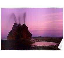 Fly Geyser Evening Light Poster