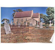 St Mary's Catholic Church, Mintaro, South Australia Poster