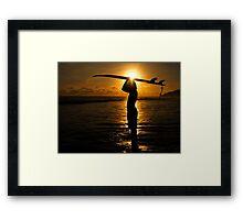 Surfer Costa Rica Framed Print