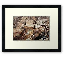 Rock Textures, 1 Framed Print