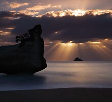 Cathedral Cove Rock Stack - Coromandel Peninsula  NZ by Mark Shean