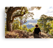 On the edge of the World Canvas Print