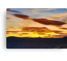 Sunset from Susanville, California Canvas Print