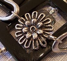 Onyx and Silver Daisy Chain by Erica Long