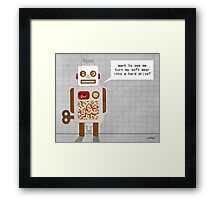 naughty robot Framed Print