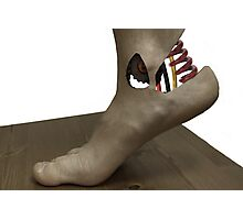Cybernetic Foot Photographic Print