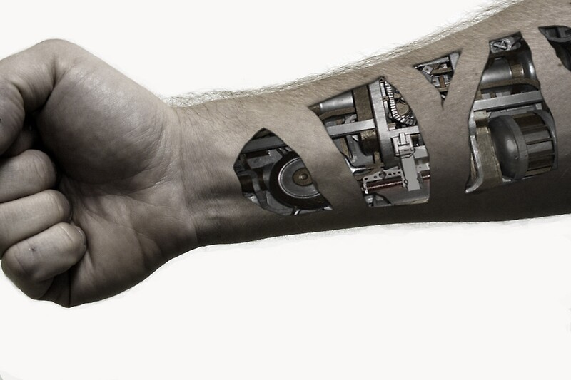 Quot Cybernetic Arm Desaturated Quot By Wdaros714 Redbubble