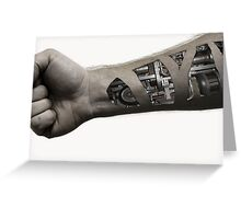 Cybernetic Arm (desaturated) Greeting Card