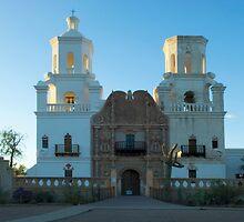 San Xavier del Bac Mission Arizona by Bob Christopher