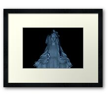 Our Lady Of The Valley in Blues Framed Print