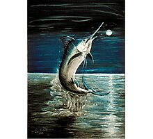 Moonlit Marlin Photographic Print