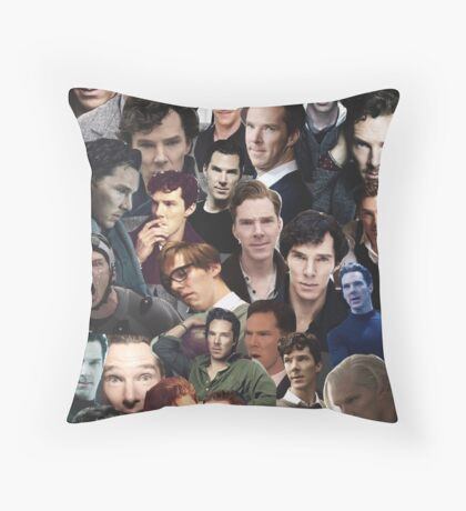 Benedict Cumberbatch Collage Throw Pillow