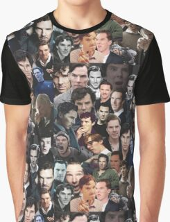 Benedict Cumberbatch Collage Graphic T-Shirt