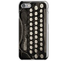 Vintage Typewriter Keyboard iPhone Case/Skin