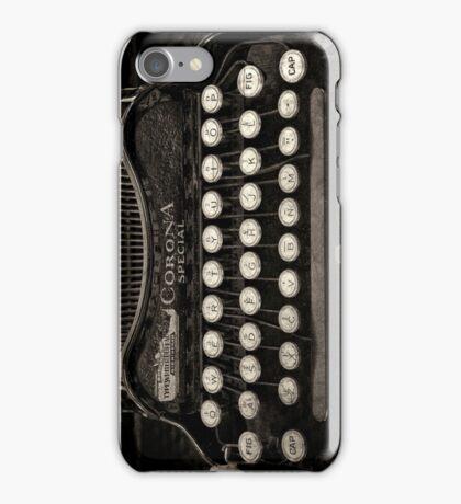 Vintage Typewriter Keyboard iPhone Case/Skin