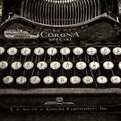 Vintage Typewriter Keyboard by DaveTurner