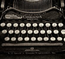 Vintage Typewriter Keyboard by DaveTurner