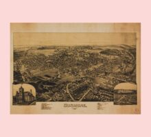 Panoramic Maps Dunmore Pennsylvania One Piece - Short Sleeve