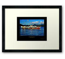Canoe Evolution Framed Print