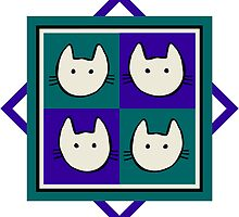 Fab Four Felines by Julia Marshall