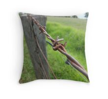 Barbwire Fence Throw Pillow