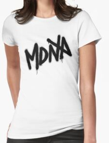 MDNA Tag (Black) Womens Fitted T-Shirt