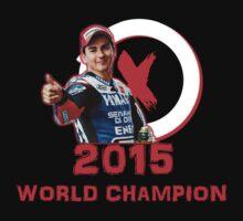 Jorge Lorenzo: 2015 World Champion in MotoGP (A) One Piece - Short Sleeve