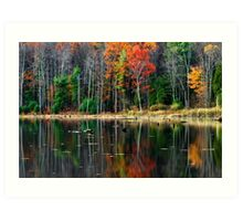 Autumn Reflection New York Landscape Art Print