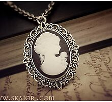 Gothic Victorian Lady Cameo Necklace by SKAIOR Designs