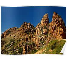 the Calanches of Piana Poster