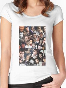 David Tennant Collage Women's Fitted Scoop T-Shirt