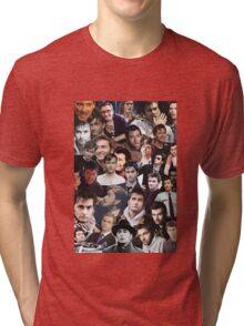 David Tennant Collage Tri-blend T-Shirt