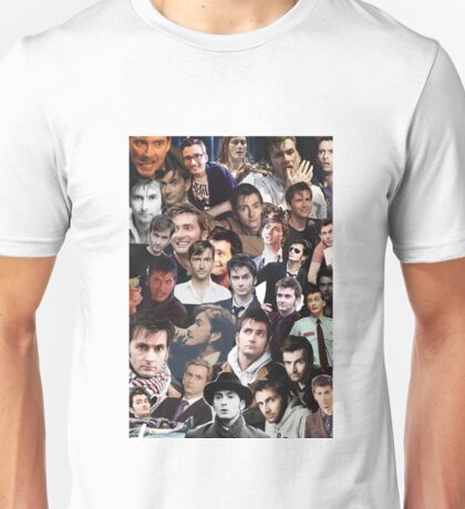 David Tennant Collage Unisex T-Shirt