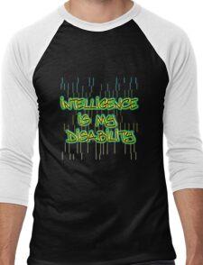 intelligence is my disability Men's Baseball ¾ T-Shirt