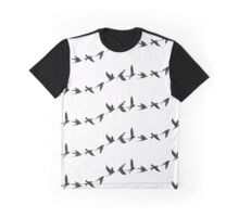 Flying Swallow Graphic T-Shirt