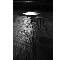 Table and Chair Photographic Print