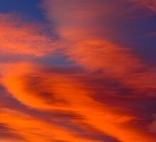 Orange Clouds by Alistair Luckman