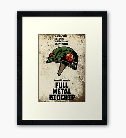 Full Genetic Infantryman Framed Print