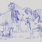 Gypsy Cob Family (for Trudi) by louisegreen