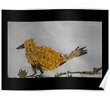 Yellow Busy Bird Poster