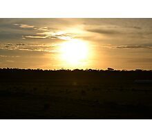 Field Sunset Photographic Print